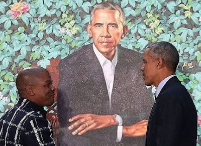 nigerian artist paints obama portrait