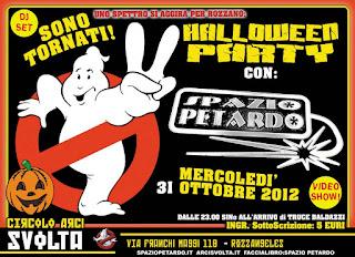 Mercoledì 31 ottobre, all'Arci Svolta di Rozzano (Mi) festa di Halloween con lo show poliedrico di Spazio Petardo