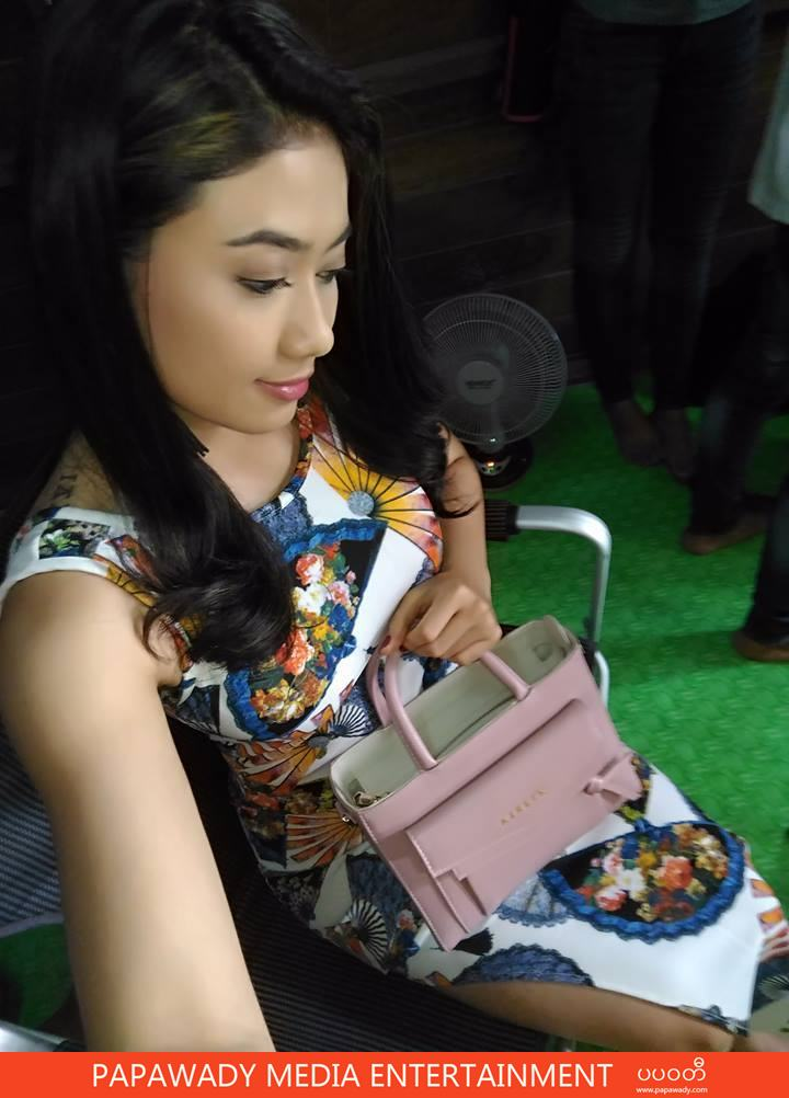 Thinzar Wint Kyaw At Movie Shooting Snapshots in Fashion Style