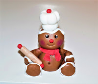 fondant gingerbread man topper