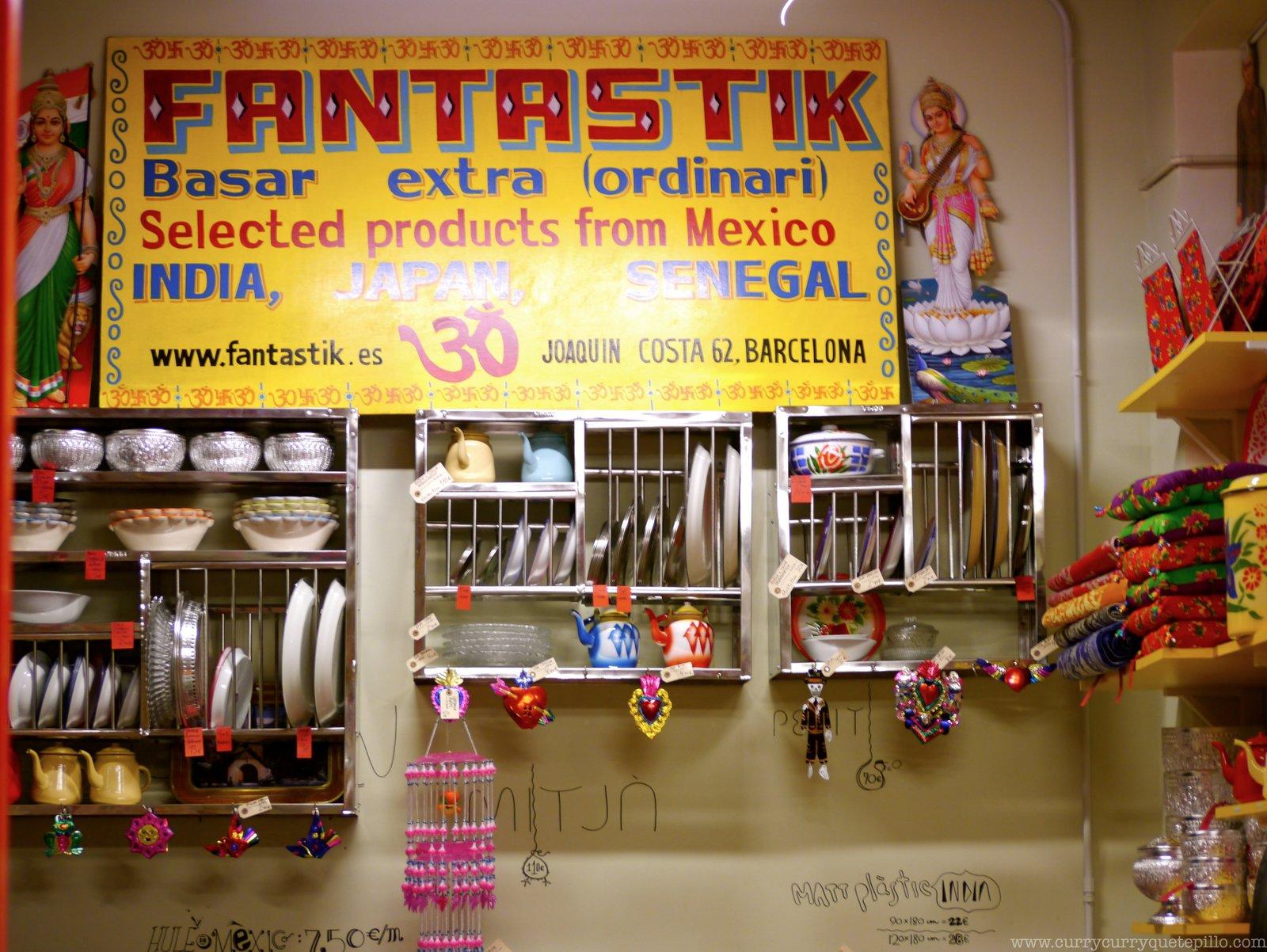 Fantastik, una tienda fantástica en Barcelona - Currycurryquetepillo