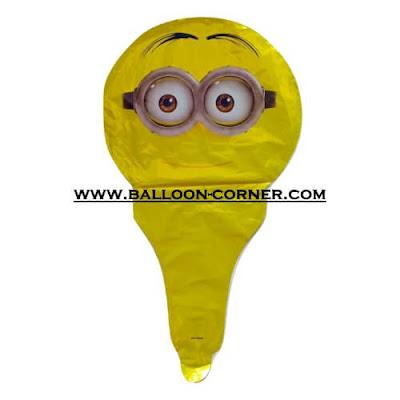 Balon Foil Raket Karakter / Balon Souvenir Ulang Tahun Karakter Minion