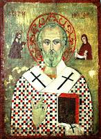 Sfantul Ierarh Nicolae, icoana pe lemn
