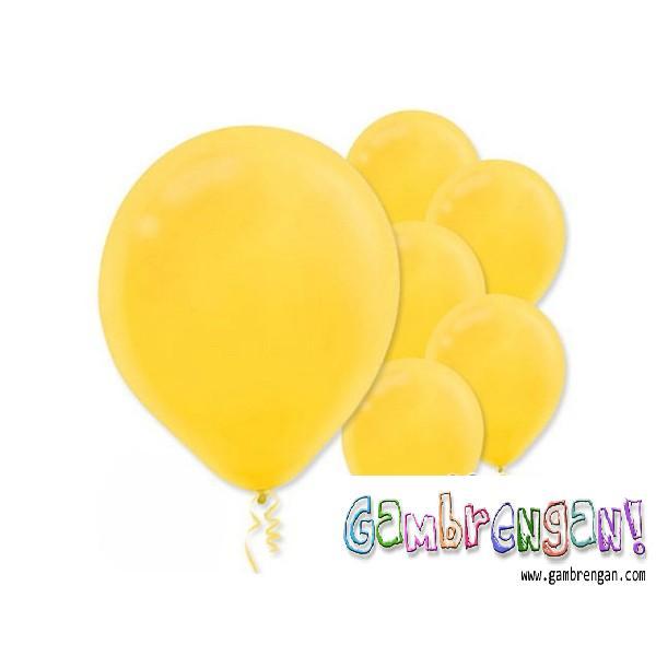 Balon Dekorasi Kuning Muda