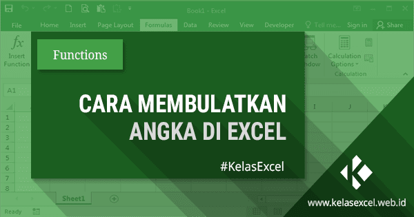 Cara Membulatkan Angka Di Belakang Koma Pada Microsoft Excel