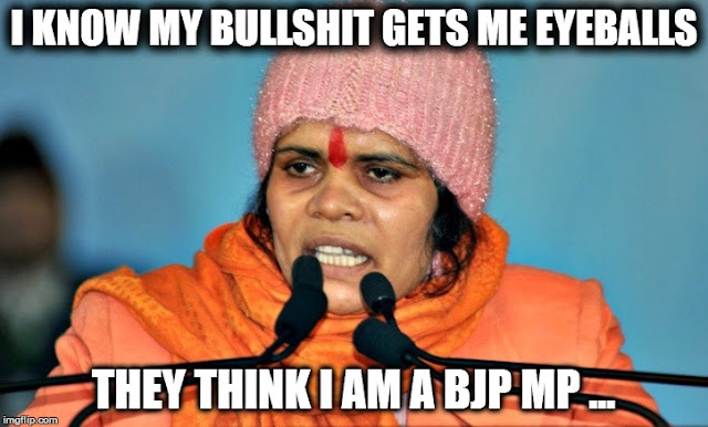 Sadhvi Prachi - I know my bullshit gets me eyeballs, else nobody would know me