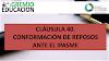 CLÁUSULA 40. CONFORMACIÓN DE REPOSOS ANTE EL IPASME
