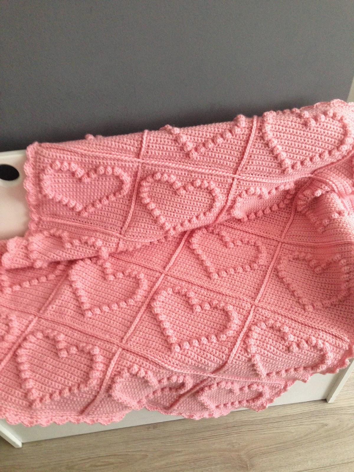 Angels Handmade Bobble Heart Blanket Vertaald Patroon