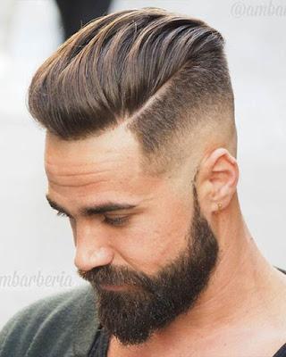 peinado con cabello largo arriba casual hombres