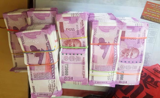 Police seize Rs 93.52 lakh cash in Rs 2000 Notes in Jaipur