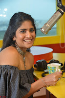 Mega Akash in a sleeveless Off Shoulder Cute Dress Stunnign beauty at Radio Mirchi Promoting Movie LIE ~ Celebrities Galleries 039.JPG