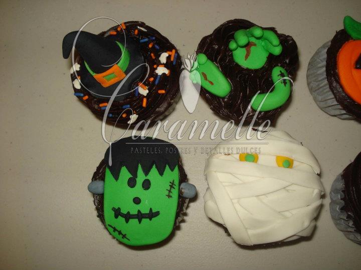 Caramelle Postres Cupcakes De Fondant Halloween