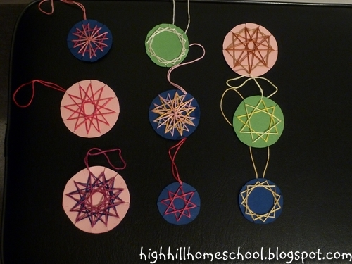 Highhill Homeschool: Math Stars Christmas Ornaments