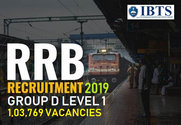 RRC Group D Level 1 Recruitment 2019 Notification Out: 1,03,769 vacancies