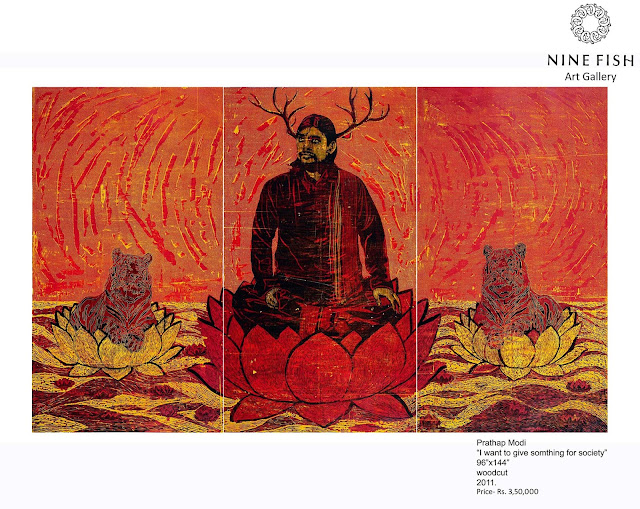 "Nine Fish Art Gallery Presents ""Mapping Stillness"" Works by Madhu Das, Prathap Modi and Sujith SN"