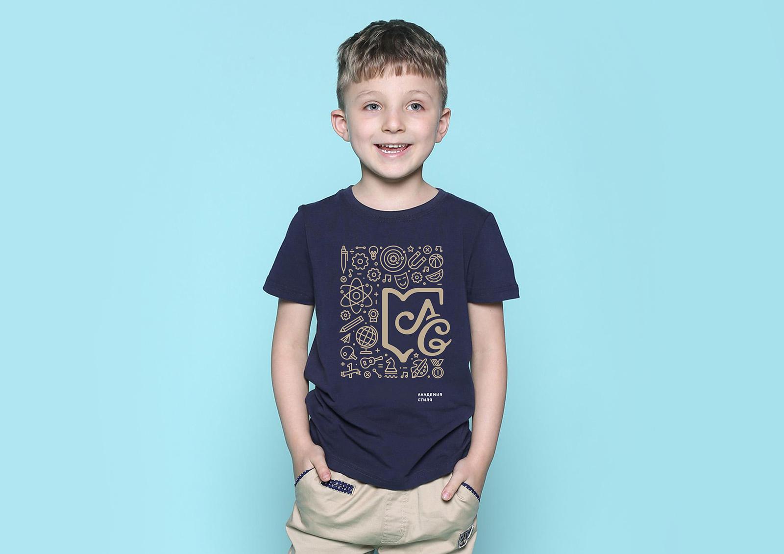 дизайн логотипа, одежда для школы Академия стиля