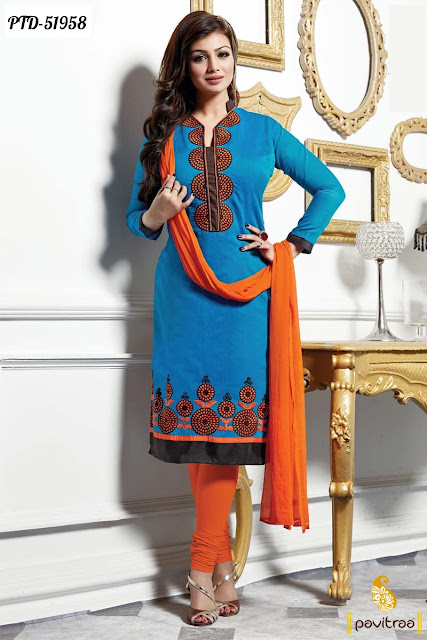 Bollywood actress Ayesha Takia wholesale blue color chiffon bollywood salwar suit online catalogue collection