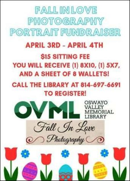 "4-3/4 ""Photography Portrait Fundraiser"" at OVML"
