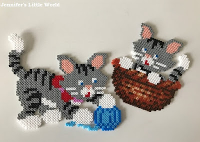 Mini Hama bead kittens
