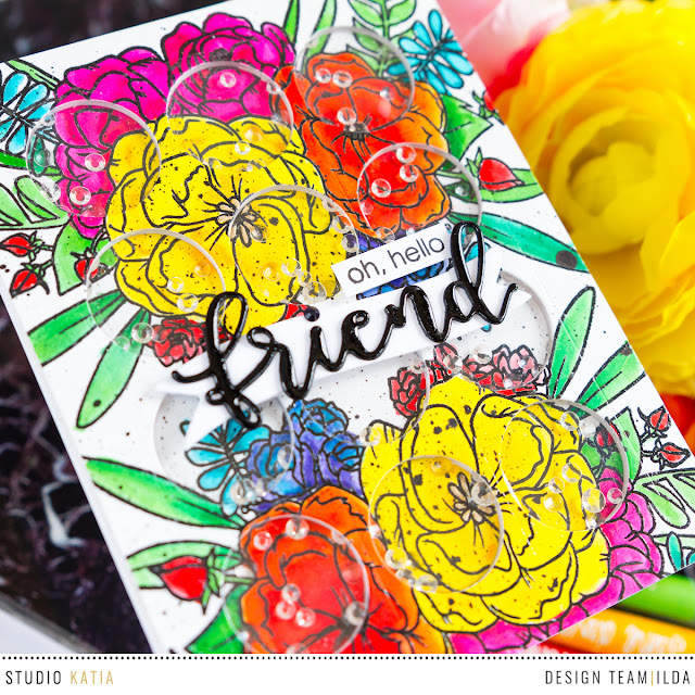 Lovely Blooms Shaker Card by ilovedoingallthingscrafty