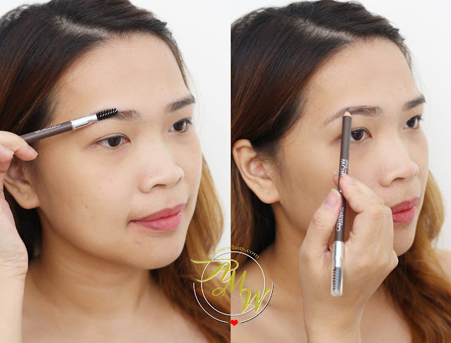 a photo of Nikki Tiu AskMeWhats wearing Catrice Eye Brow Stylist in shade 030 Brow-n-eyed Peas