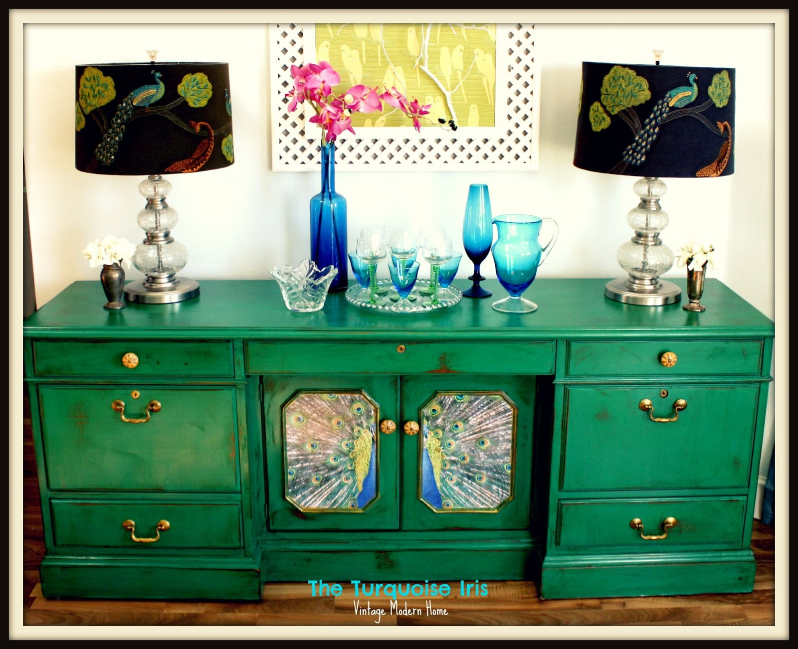 The Turquoise Iris Furniture Amp Art Emerald Green
