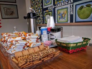 guests' treats at Arab American Friendship Center, Dearborn, MI