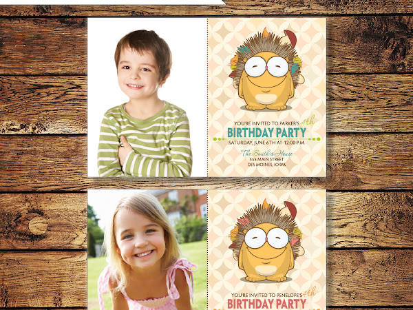 Porcupine Birthday Invitations