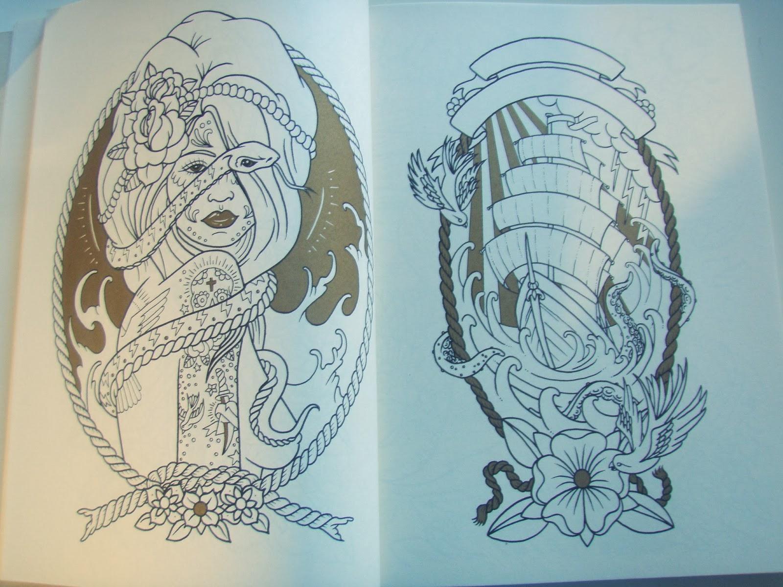 coloriage tatouage adulte