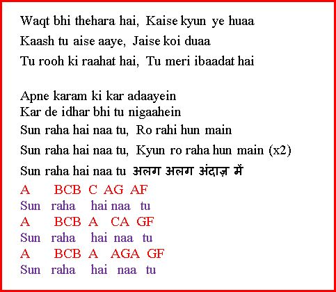 Piano piano tabs of tum hi ho : Violin : violin chords for tum hi ho Violin Chords along with ...