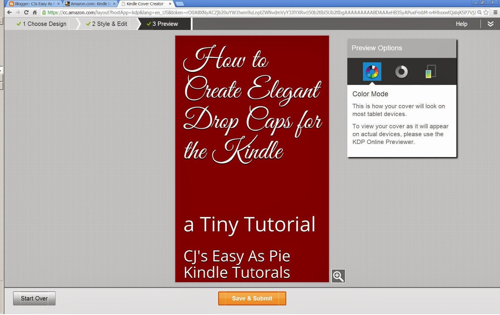 CJs Easy As Pie Kindle Tutorials: Create eBook Cover with