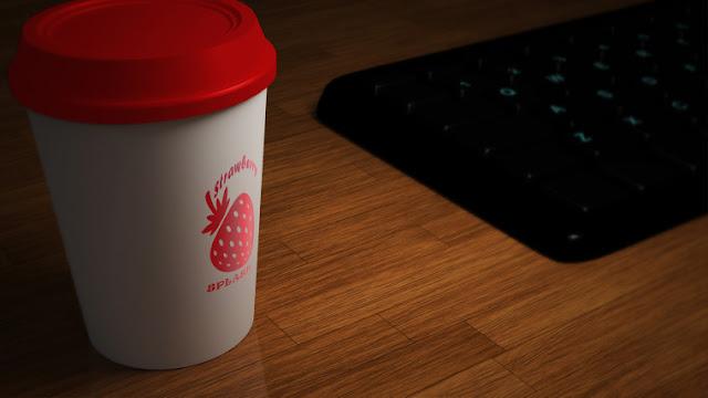 موك اب شعار فوق فنجان قهوة - Paper Cup Logo Mockup