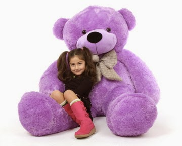 DeeDee Cuddles Is 65in of lilac purple teddy bear love
