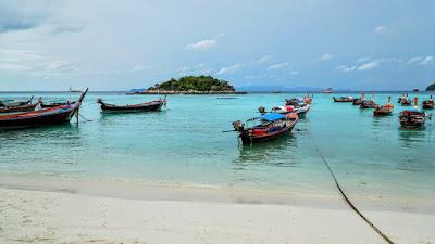 Sunrise Beach, Koh Lipe. That tiny islet just off the shore is Koh Kra