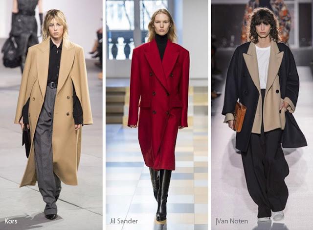 Тренды осень зима 2017 2018 мужской стиль пальто на подиуме