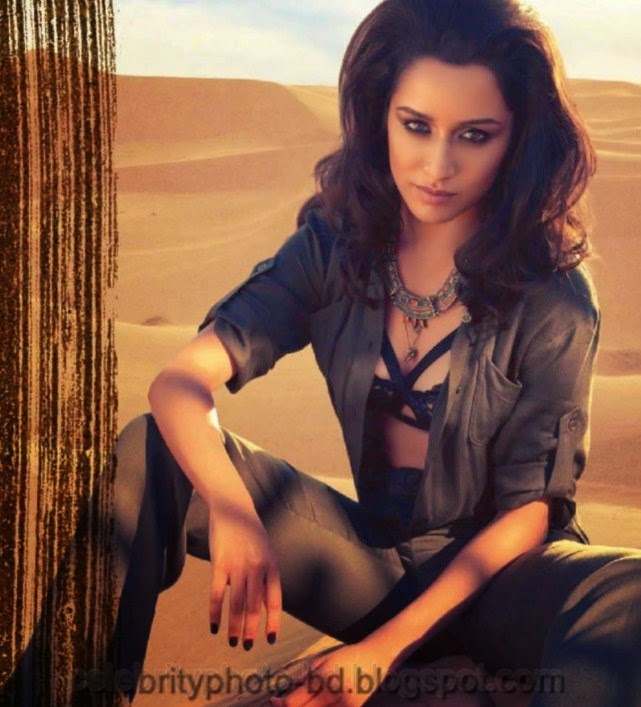 Sexy Indian Actress Shraddha Kapoor's Latest Hot Bikini Photoshoot 2014