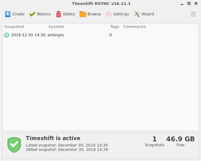 Timeshift Rsync