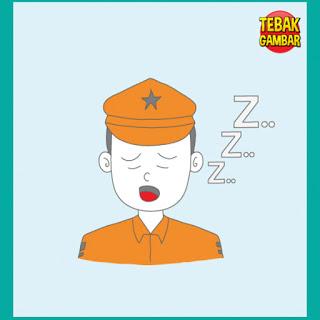 Tebak Gambar Polisi Sedang Tidur