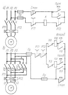 Схемы магнитных пускателей