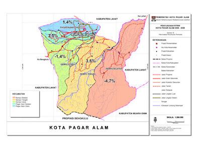 Peta Kota Pagaralam