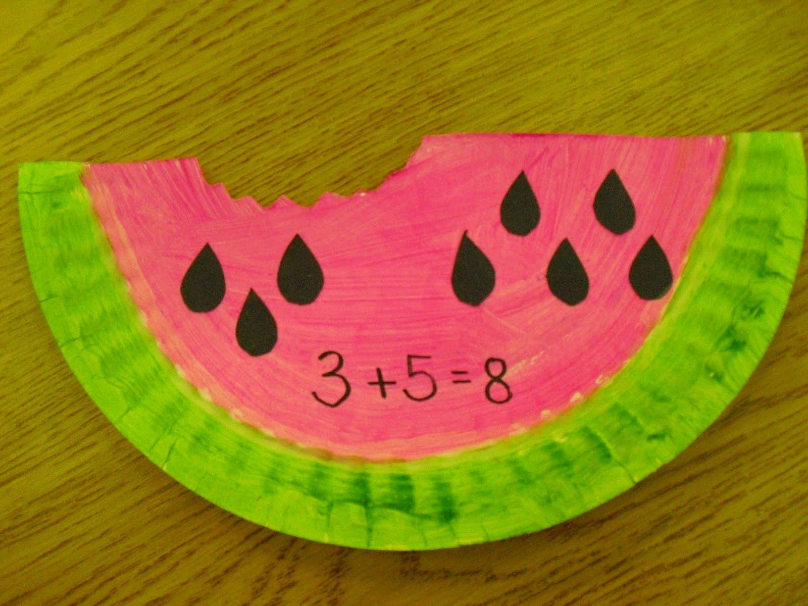 Mrs Cates Kindergarten Watermelon Math