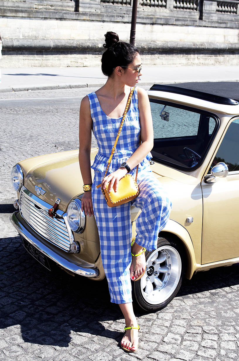 Elizabeth l Gingham overalls outfit blog mode l Asos Valentino Quay Australia l THEDEETSONE l http://thedeetsone.blogspot.fr