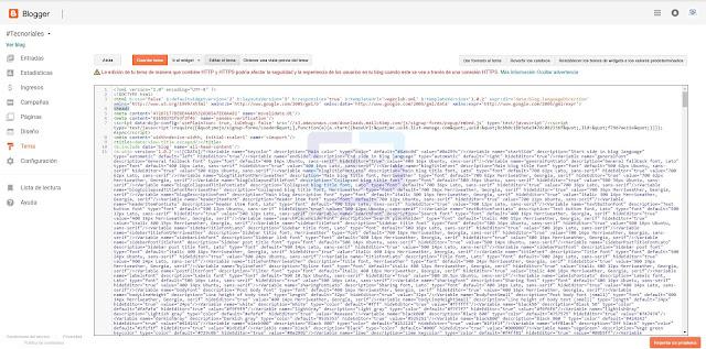 HTML plantilla blogger