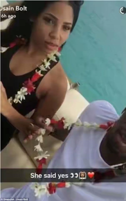 Is Usain Bolt engaged to his long time girlfriend?