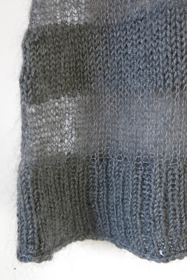 sheer stripes knitting pattern sweater
