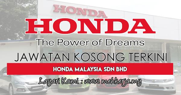 Jawatan Kosong Terkini 2018 di Honda Malaysia Sdn Bhd
