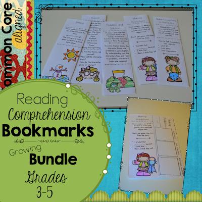 https://www.teacherspayteachers.com/Product/Reading-Comprehension-Bookmarks-2425331