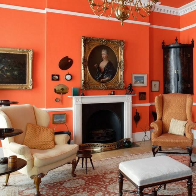 Salas color naranja - Ideas de salas con estilo
