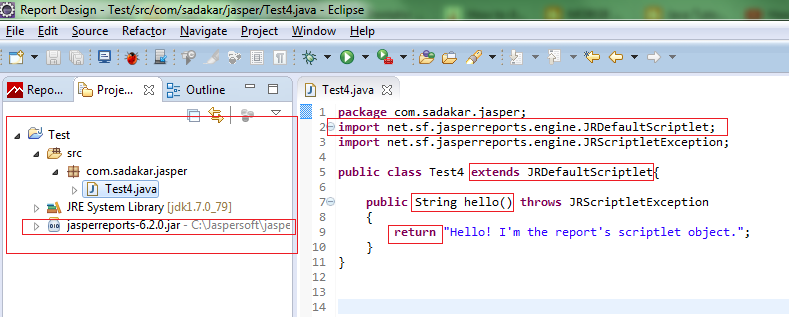 Scriptlet Example in Jaspersoft 6.x for begineers - Hello ...