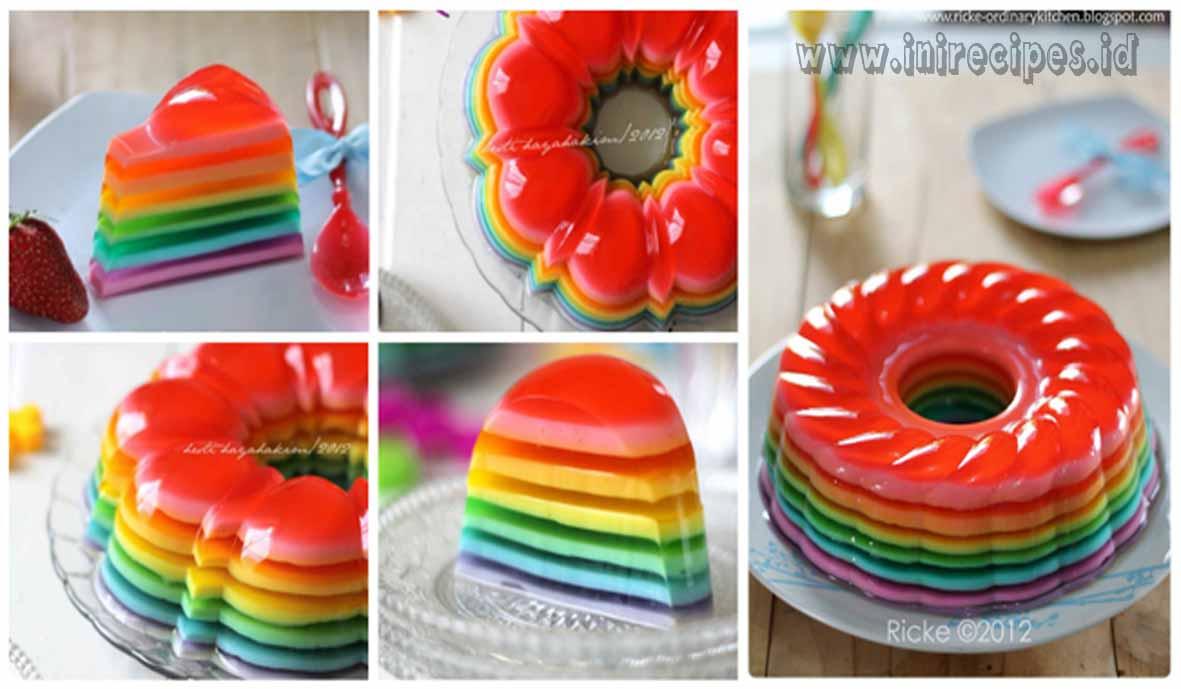 Tips Mudah Bikin Puding Rainbow